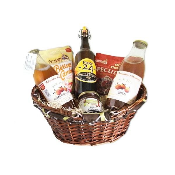 Panier Cadeau Provence : Panier cadeau quot saveur en or garni nord coffret