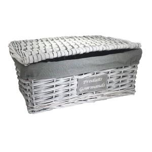 panier cadeau bianco avec couvercle panier garni nord le ch 39 ti march. Black Bedroom Furniture Sets. Home Design Ideas
